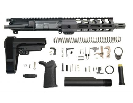 "PSA 8.5"" CHF Pistol-Length 300AAC Blackout 1/8 7"" Lightweight M-Lok MOE EPT SBA3 Pistol Kit w/NiB BCG"