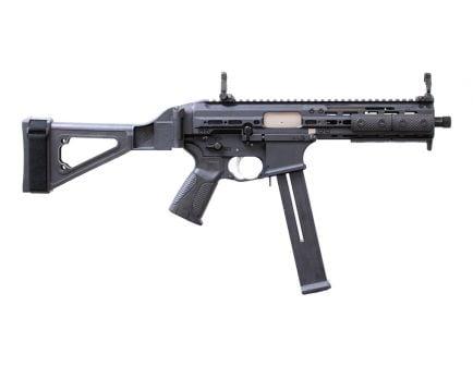 "LWRC International SMG .45 ACP 8.5"" Pistol with SB Tactical Folding Brace, Black - SMGPB45B8S"