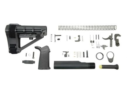 PSA SBA4 MOE Pistol Lower Build Kit, Black