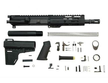 """PSA 7.5"""" Pistol-Length 5.56 NATO 1/7 Nitride 6"""" Lightweight M-Lok Classic Shockwave Pistol Kit"""