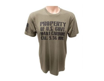 "PSA ""Property of US Gov't"" Short Sleeve OD Green T-Shirt"