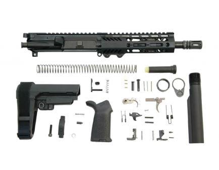 "PSA 8.5"" Pistol-length 300AAC Blackout 1/8 Phosphate 7"" Lightweight M-Lok MOE EPT SBA3 Pistol Kit"