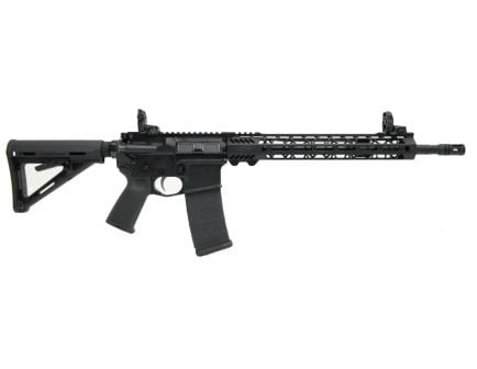 "PSA 16"" Mid-Length 5.56 NATO 1/7 Nitride 13.5"" Lightweight M-Lok MOE EPT Rifle w/MBUS Sight Set"
