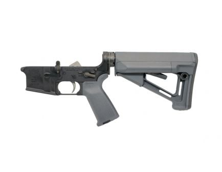 PSA AR-15 Complete MOE STR Lower, Gray