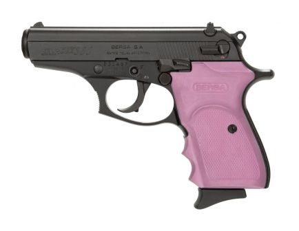 Bersa Thunder .380 ACP Pistol, Black with Pink Grips