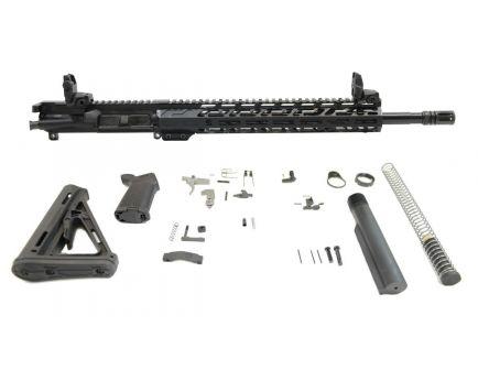 "PSA 16"" Mid-Length 5.56 NATO 1/7 Nitride 13.5"" Lightweight M-Lok MOE EPT Rifle Kit w/MBUS Sight Set"