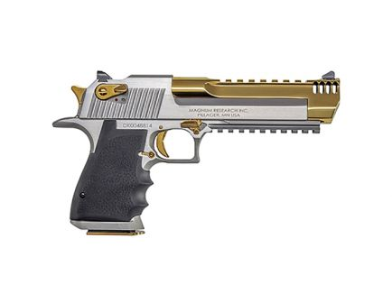 Magnum Research Desert Eagle Mark XIX 50AE Pistol, Stainless/ Titanium Gold