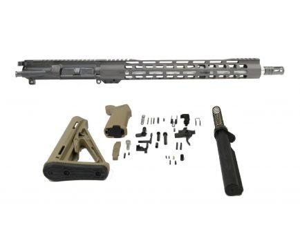 "PSA 16"" Mid-length 5.56 NATO 1:8 Stainless 15"" Lightweight M-Lok MOE FDE Rifle Kit"