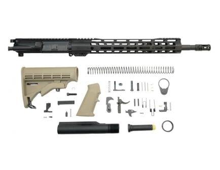 "PSA 16"" Mid-Length 5.56 NATO 1:7 Nitride 13.5"" Lightweight M-Lok Classic Rifle Kit, FDE"