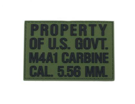 PSA Property of US Gov't PVC Morale Patch - 5165490582