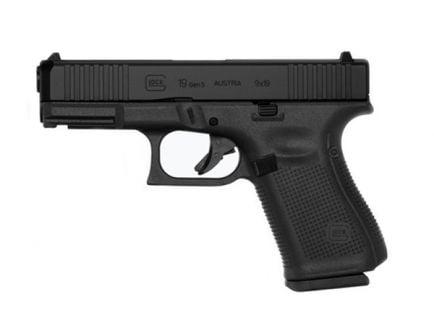 Glock G19 Gen5 9mm Pistol, Black - PA195S203