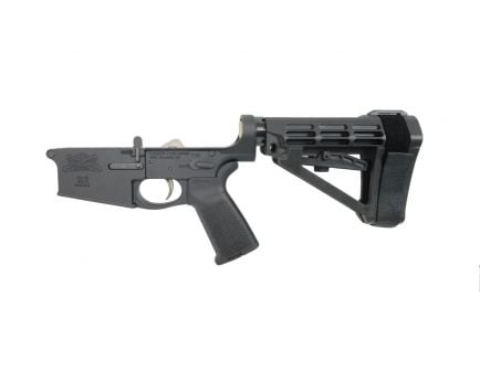 PSA Gen3 PA10 Forged Complete MOE EPT SBA4 .308 Lower With Over Molded Grip