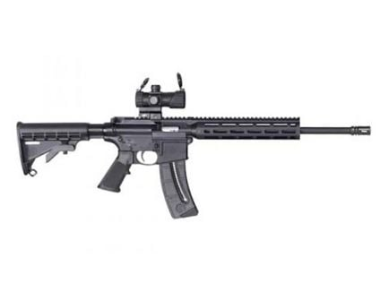 S&W M&P 15-22 Sport .22LR Rifle with Red/Green Dot Optic - 12722