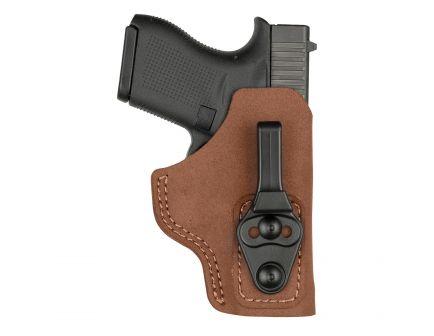 Bianchi 6T Right Hand Glock 17/23/30S/36 Ultra Lightweight IWB Open-Top Concealment Tuckable Holster, Plain Black - 10774