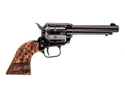 "Heritage Pistol RR .22LR 6rd 4.75"" Revolver, Wood Flag - RR22B4WBRN2"