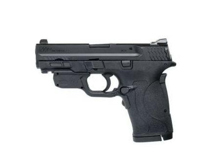 Smith & Wesson M&P 380 Shield EZ .380 ACP Pistol w/ Crimson Trace Green Laserguard, Blk - 12611