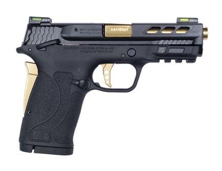 S&W Performance Center M&P380 Shield EZ .380 ACP Pistol, Gold Barrel - 12719