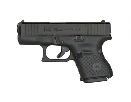 Glock G26 Gen5 9mm Pistol, Black - UA265S201