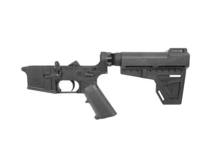 "PSA AR-15 Complete ""Stealth"" Classic Shockwave Pistol Lower - No Magazine, Black"