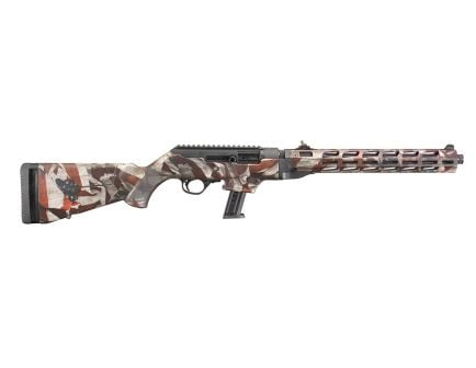 Ruger PC Carbine 9mm Rifle, Fluted/Threaded, American Flag Cerakote - 19121