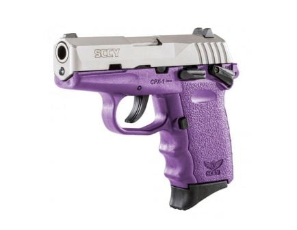 SCCY CPX-1 9mm Stainless / Purple Pistol w/ Safety, 1 Magazine - CPX-1TTPU
