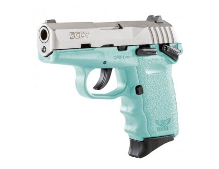 SCCY CPX-1 9mm Stainless / Blue Pistol w/ Safety, 1 Magazine - CPX-1TTSB