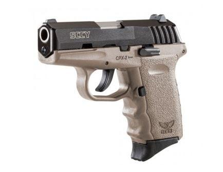 SCCY CPX-2 9mm Black / FDE Pistol, No Manual Safety, 1 Magazine - CPX-2CBDE