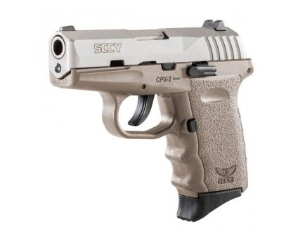 SCCY CPX-2 9mm Stainless / FDE Pistol, No Manual Safety, 1 Magazine - CPX-2TTDE