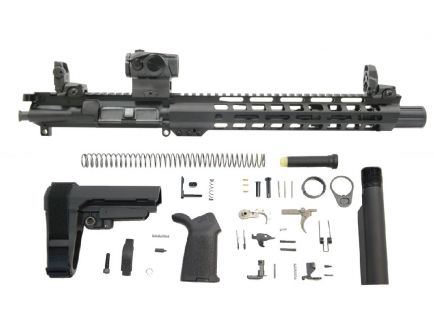 "PSA 10.5"" Carbine-Length 5.56 NATO 1/7 Nitride 12"" Slant M-Lok MOE EPT SBA3 Pistol Kit with MBUS Sight Set & Romeo 5"