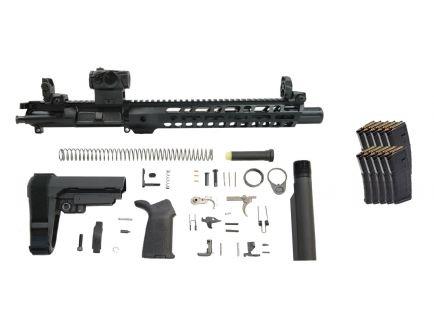 "PSA 10.5"" Carbine-Length 5.56 NATO 1/7 Nitride 12"" Slant M-Lok MOE EPT SBA3 Pistol Kit With Romeo 5 & 10 PMAGS"