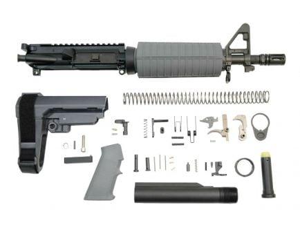 """PSA 10.5"""" 5.56 NATO 1/7"""" Phosphate Classic EPT SBA3 Pistol Kit, Gray"""