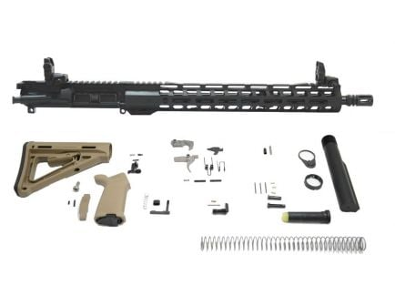 "PSA 16"" 5.56 NATO 1/7 Mid-Length Nitride 15"" Lightweight M-Lok MOE EPT Rifle Kit, Flat Dark Earth"