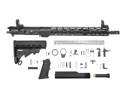 "PSA 16"" Mid-Length 5.56 NATO 1:7 Nitride 15"" Lightweight M-Lok Classic Rifle Kit With MBUS Sight Set"