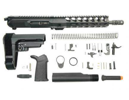 "PSA Gen4 10.5"" 9mm 1/10 Nitride 9"" Lightweight M-lok Railed MOE SBA3 Pistol Kit"