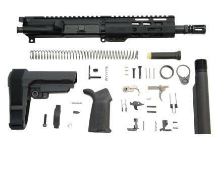 """PSA 7.5"""" Pistol-Length 5.56 NATO 1/7 Nitride 6"""" Lightweight M-Lok MOE EPT SBA3 Pistol Kit"""
