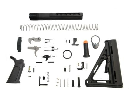 PSA PA10 MOE EPT Lower Build Kit with Overmolded Grip, Black