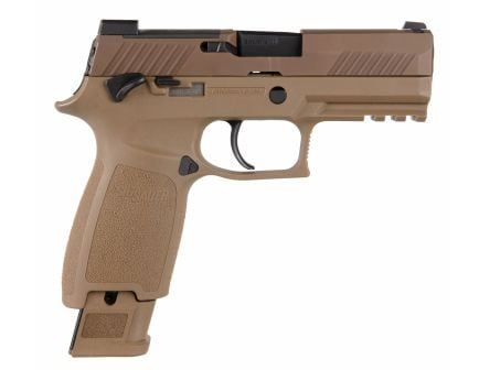 "Sig Sauer P320 M18 Carry 9mm 3.9"" Pistol, Coyote Tan - 320CA-9-M18-MS"
