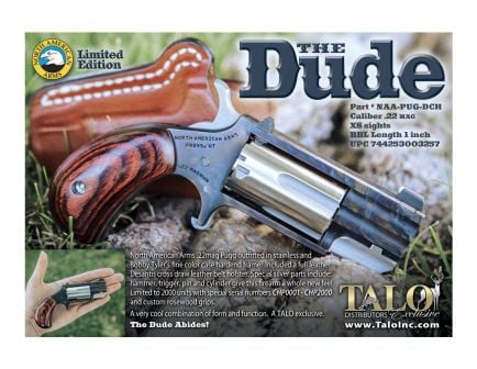 "NAA The Dude .22 Mag 5rd 1"" Revolver w/ XS Sights, TALO Exclusive - NAA-PUG-DCH"