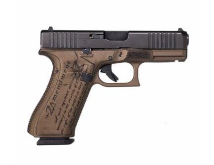 """Glock G45 Gen5 9mm 17rd """"2nd Amendment"""" Pistol, Bronze - PA455S203-2A"""