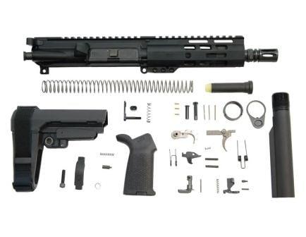 "PSA 7"" 300AAC Blackout 1/7 Nitride 6"" Lightweight M-Lok MOE EPT SBA3 Pistol Kit"