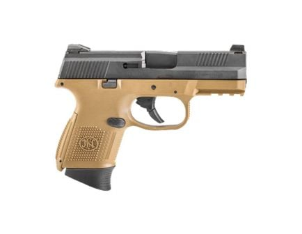 FN FNS-9 Compact 9mm 17rd/12rd Pistol, FDE/Black - 66-100356