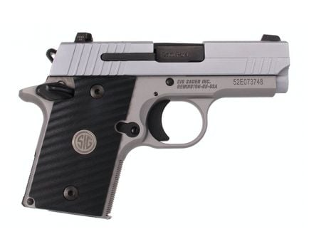 "Sig Sauer P938 9mm 7rd 3"" Pistol w/ Night Sights - 938-9-ASE-AMBI-BLK"