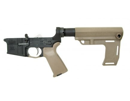 PSA AR15 Complete MFT Battlelink MOE EPT Pistol Lower, Flat Dark Earth