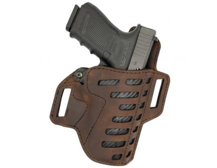 "Versacarry Compound Size 1 Right Hand 3.5"" Sub Compact OWB Holster, Distressed Brown - C221365"