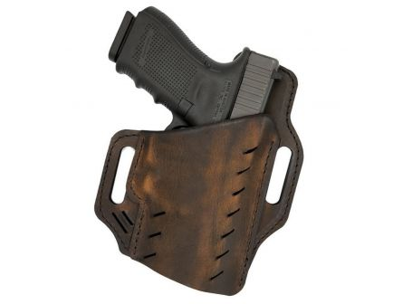Versacarry Guardian Size 3 Right Hand Glock 42/43 OWB Holster, Distressed Brown - G3BRN