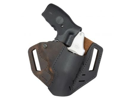 Versacarry Right Hand OWB Holster for Rugger LCR Pistol, Distressed Brown - REV201