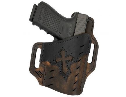 Versacarry Underground Guardian Arc Angel Size 3 Right Hand Glock 42/43 OWB Holster, Distressed Brown - UGA3BRN