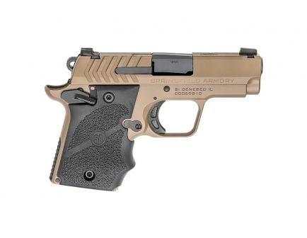 """Springfield 911 9mm 7rd 3"""" Pistol, Desert FDE w/ Hogue Grips - PG9119FH"""