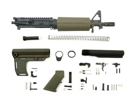 """PSA 10.5"""" Carbine-Length 5.56 NATO 1/7"""" Phosphate Classic MFT Battlelink Pistol Kit, Olive Drab Green"""