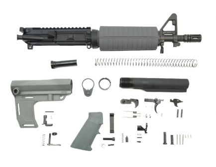 "PSA 10.5"" Carbine-Length 5.56 NATO 1/7"" Nitride Classic MFT Battlink Pistol Kit, Gray"